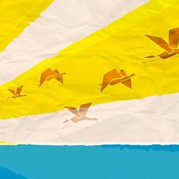 Paper Cranes by danielcampagna