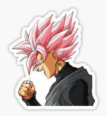 Black Goku Rosé Sticker