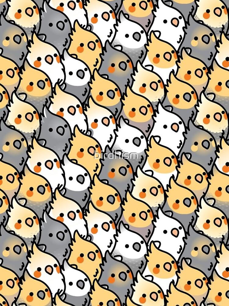Chubby Cockatiel Party by birdhism