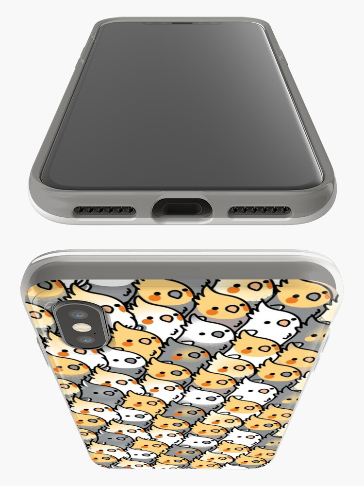 Alternate view of Chubby Cockatiel Party iPhone Cases & Covers