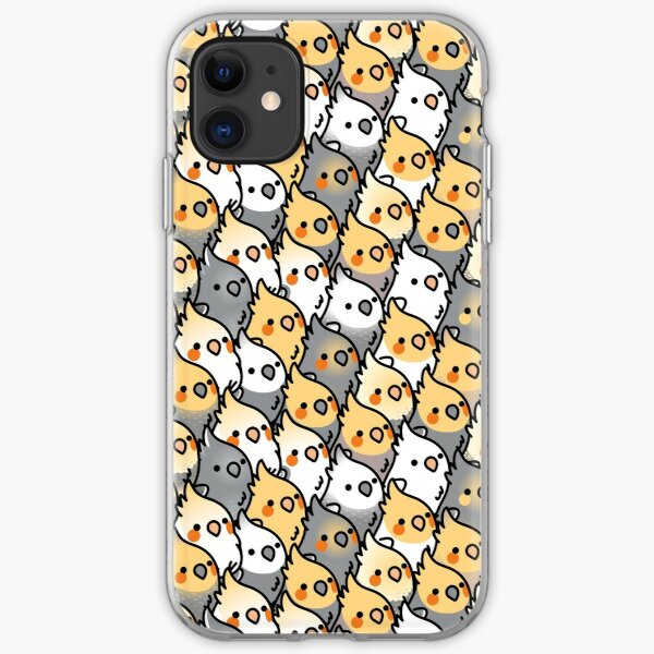 Chubby Cockatiel Party iPhone Soft Case