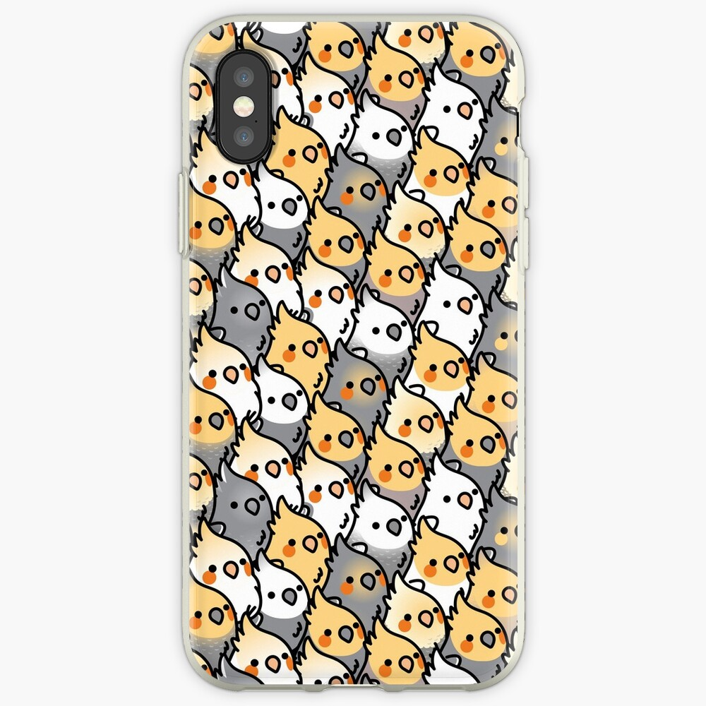 Chubby Cockatiel Party iPhone Cases & Covers