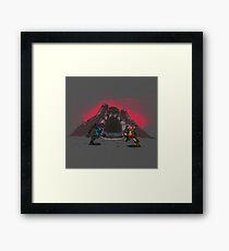 Battle Arena Eternia Framed Print