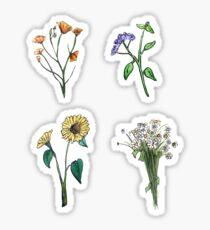 Wildflower Boho Hippie Stickers Sticker