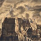 Fire on the Elandsgracht by Jan van der Heyden, 1679 - 1690 by GlitterandDecay