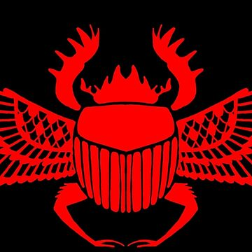 Red Khepri Scarab Ancient Symbol by Hackers
