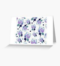 Romantic watercolor floral pattern Greeting Card
