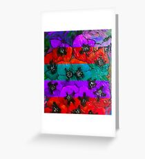 Warm and Cool Poppies Greeting Card