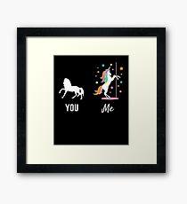Unicorn Gift Cute Unicorn You Me Dance Unicorns Present Framed Print