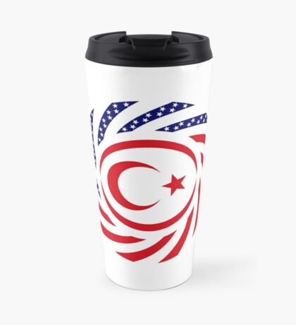 Northern Cyprus American Multinational Patriot Flag Series Travel Mug