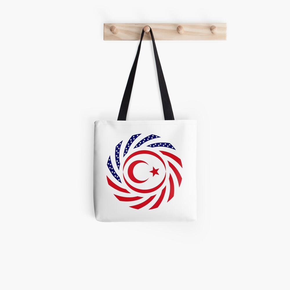 Northern Cyprus American Multinational Patriot Flag Series Tote Bag