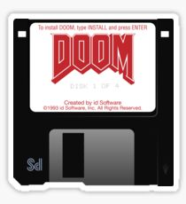 Doom Floppy Disk Sticker