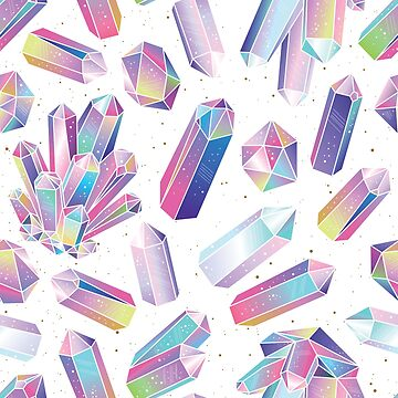 Purple Crystal Watercolor Amethyst Illustration. by newburyboutique