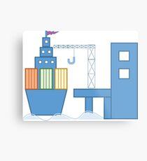 Shipping Port Metal Print
