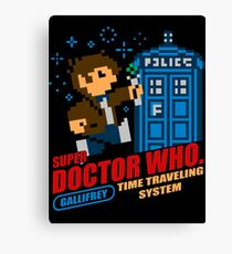Super Doctor Who Canvas Print