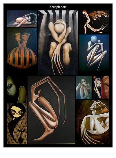 collage my paintings by seraphidart