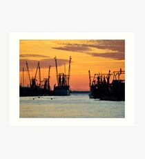 Shem Creek Sunset Art Print
