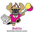 Dottie the Spotted Hyena by PegMcClureLLC