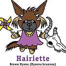 Hairiette the Brown Hyena by PegMcClureLLC