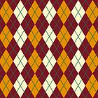 Maroon And Gold Argyle by CreatedProto