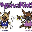 Hyena Kids - in a row on a sticker! by PegMcClureLLC
