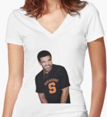 Syracuse University Drake Women's Fitted V-Neck T-Shirt