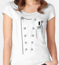 Chef's Coat Women's Fitted Scoop T-Shirt