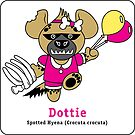 Dottie the Spotted Hyena - on  sticker! by PegMcClureLLC