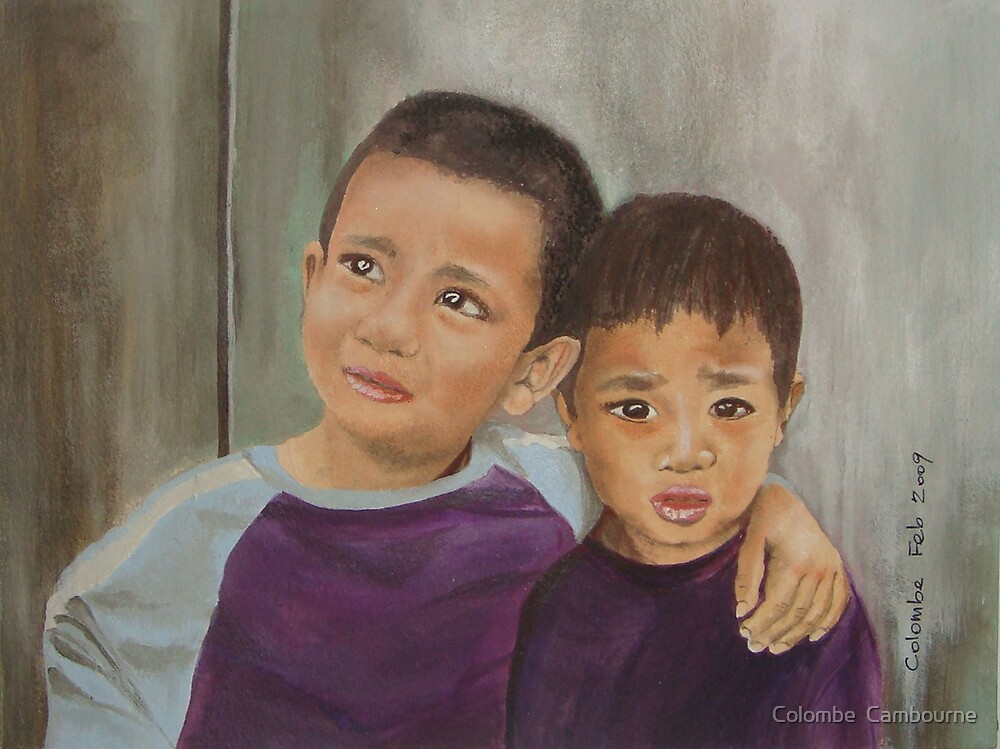 Nepalese children by Colombe  Cambourne