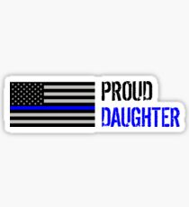 Proud Police Daughter Sticker