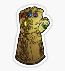 thanos's gauntlet with all six infinity stones Sticker