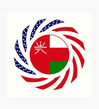 Omani American Multinational Patriot Flag Series Art Print