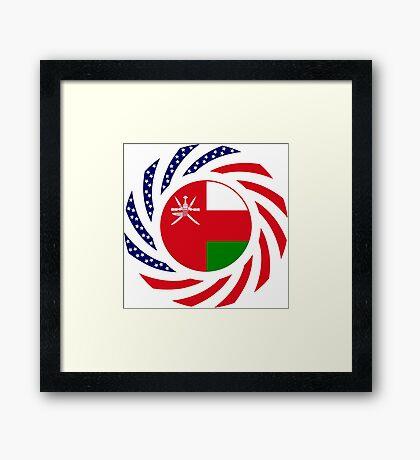 Omani American Multinational Patriot Flag Series Framed Print