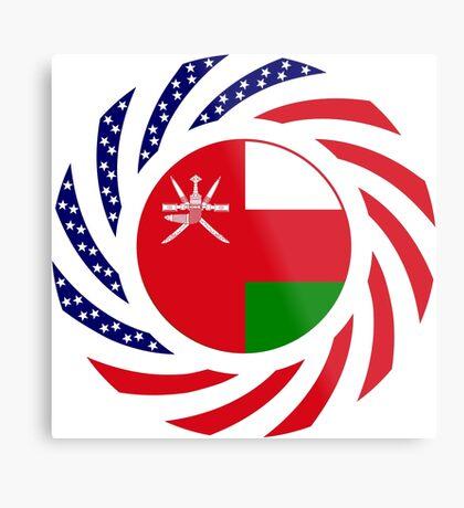 Omani American Multinational Patriot Flag Series Metal Print