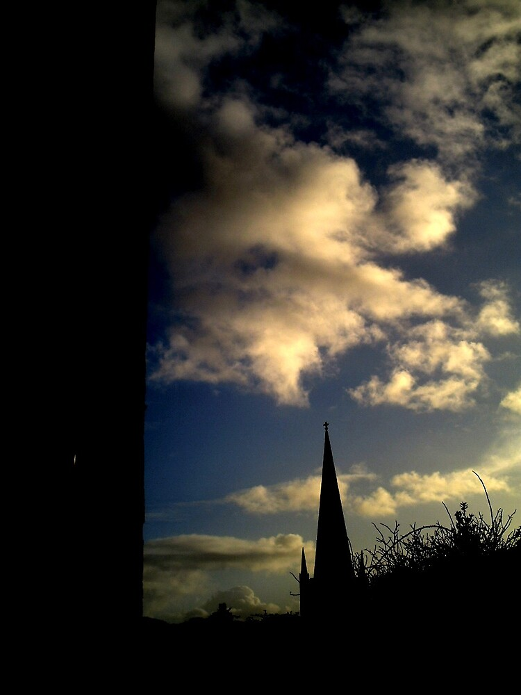 tower and church by carlinecasey
