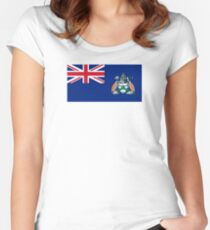 Flag of Ascension Island  Women's Fitted Scoop T-Shirt