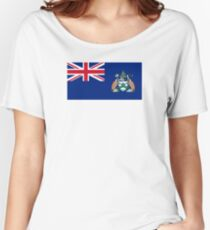 Flag of Ascension Island  Women's Relaxed Fit T-Shirt