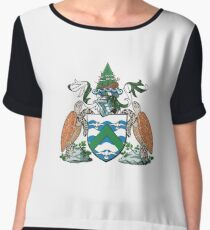 Coat of Arms of Ascension Island Chiffon Top