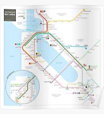 San Francisco Muni Transit Map Poster