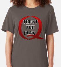 QANON TRUST The PLAN - #Qanon Slim Fit T-Shirt