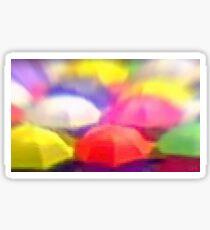 """Umbrella Rainbow"", Photo / Digital Painting Sticker"
