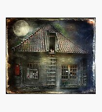 What Happens in Old Houses At Night? Photographic Print