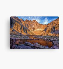 First Light at Chasm Lake Canvas Print