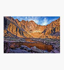 First Light at Chasm Lake Photographic Print
