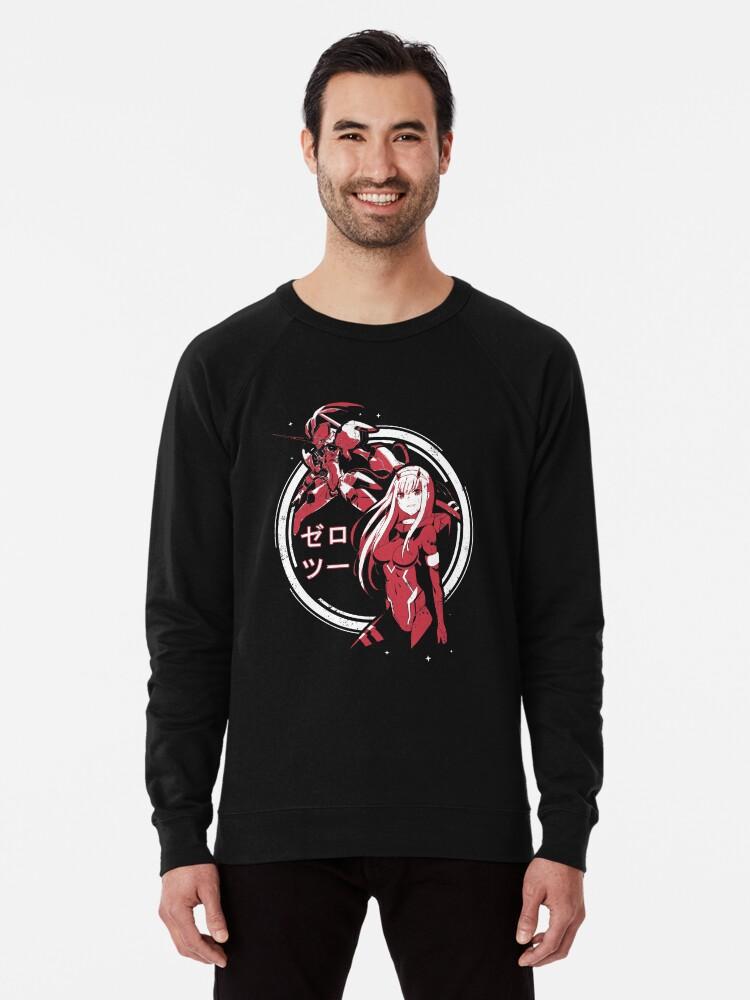 Alternate view of Zero Two - Strelitzia | Darling in the Franxx Lightweight Sweatshirt