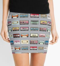 Retro Cassette Print Mini Skirt