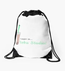 I major in Boba Studies! Drawstring Bag
