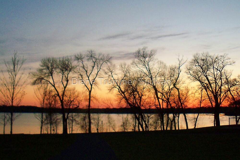 Dusk on my favorite lake! by Diane Trummer Sullivan