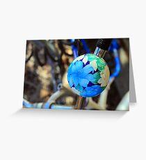 Bike Bell Blue Greeting Card