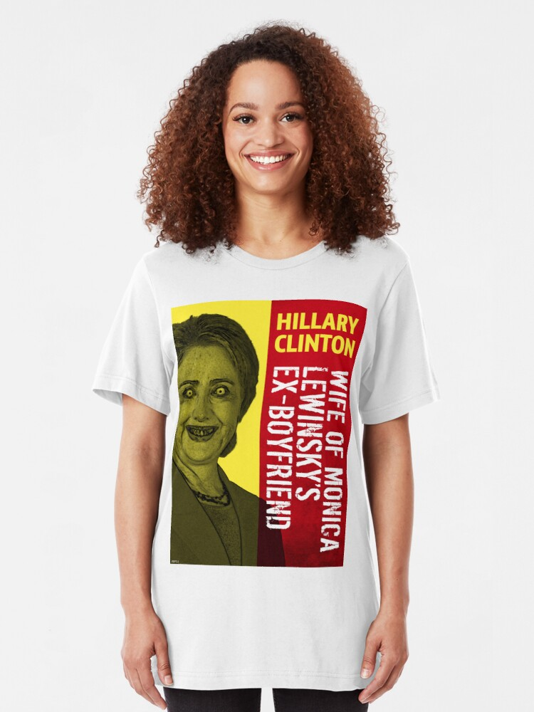 Alternate view of Hillary Clinton Is Scary Slim Fit T-Shirt